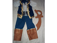 GEORGE DISNEY NEVERLAND JAKE THE PIRATE DRESS UP 3-4 YRS