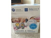 Baby monitors with sense pads for cot never used