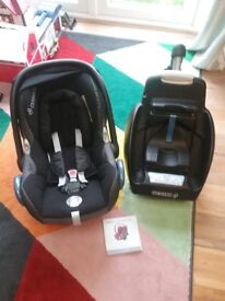 maxi-cosi CabrioFix car seat, easy fit isofix base and mirror