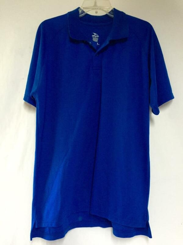 Score Adult Men's Polo Golf Shirt Size Medium Color Blue