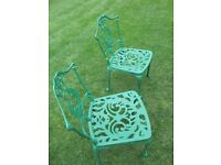 LOVELY VINTAGE METAL GARDEN CHAIRS
