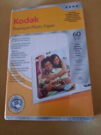 KODAK PREMIUM PHOTO PAPER 60 SHEETS