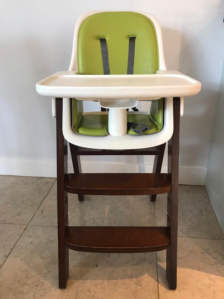 547d2d04bb14a OXO Tot Sprout High Chair - Green Walnut