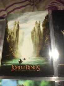 3X lord of the rings TOPPS SETS