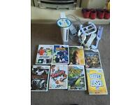 Nintendo wii with 8 game / still for sale/