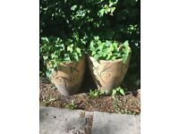 10 garden pots large and medium size