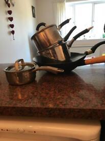 Various kitchen pots