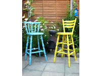 Dinning KItchen Bars Stools Chairs Painted