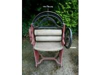 Antique clothes mangle