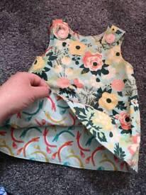 Revereable baby girl dress