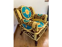 Sofa chair Armchair - exotic embroidered upholstery