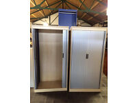 Maple Wooden Tambour Storage Units LIKE NEW