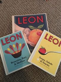 Set of three Leon Cook Books