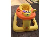 Chicco 123 Activity Centre Baby Walker - Orange.