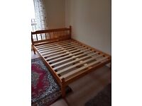 Strong wooden bed - King size