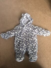 Mothercare snowsuit - upto 1 month