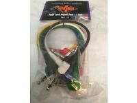 Rotosound Patch Leads 1 foot long 6 colours in pack, several pack available
