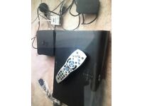 Sky box with controller and extra 1tb