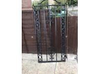 Cast iron gate very old