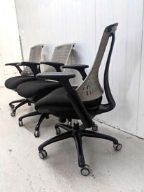 FREE SAME DAY DELIVERY - Flex Grey Ergonomic Task Office Chair