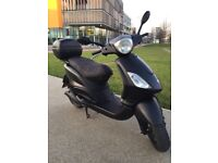 Matt Black 2009 Piaggio Fly 125cc - £799