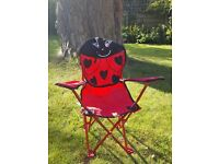 Kids ladybird camping chair