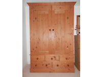 Double wardrobe and chest of drawers, Corndell Country pine