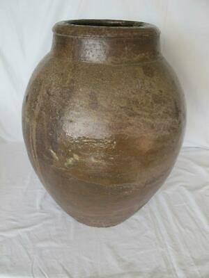 Impressive Antique / Vintage Large Old Rustic Stoneware Pottery Jar / Vase / Pot