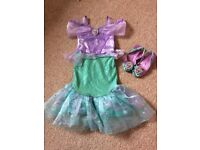 Disney The Little Mermaid Dress up (age3) with shoes (uk7-8). Disney Store