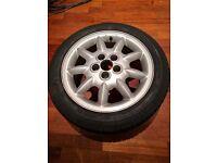 VW Golf wheel + tyre 9 spoke 195/50R15