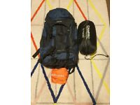 Eurohike Pathfinder 65L Rucksack & Sleeping Bag