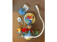 Cotbed mobile/ projector Fisher Price