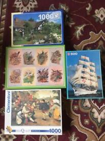 4 puzzles just £5 the lot
