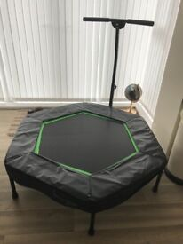 Sports trampoline with hand bar/ can be removed 45cms diametor