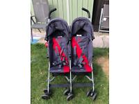 Maclaren twin pushchair stroller double