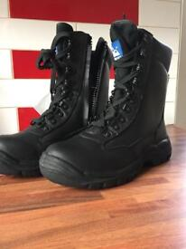 Himalayan high cut zip up safety boots size 6 BR5060
