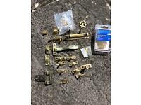 FREE, mixture of bolts, door hooks and hinges