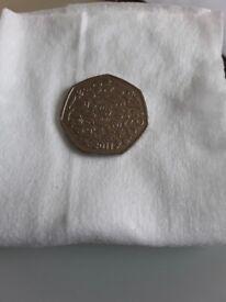 Very Rare WWF 2011 50p coin
