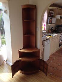1960/70 Teak Nathan Furniture Tall Corner Unit
