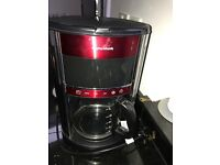 Filter coffee machine- Morphy Richards in red/black