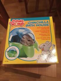 Living World Chinchilla Bath House - Unused Condition