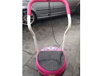 B SLIMMER PINK VIBRATION PLATE WITH ARMS EXCELLENT CONDITION