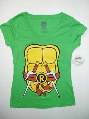 Womens Nickelodeon Teenage Mutant Ninja Turtles V Neck T-Shirt Rafael (Womens Ninja Turtle Shirt)