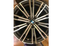 Like New G20/G21 3 series M sport alloy Wheels 18 inch diamond cut tpms fitted 100% Genuine