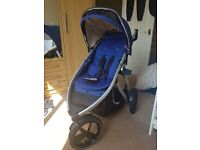 PHIL & TEDS VIBE V3 PUSHCHAIR (COBALT) PRAM BUGGY STURDY 3 WHEEL LUXURY RRP £549