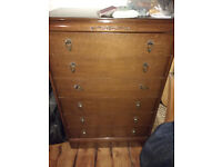 Solid Wood Vintage Chest of Drawers
