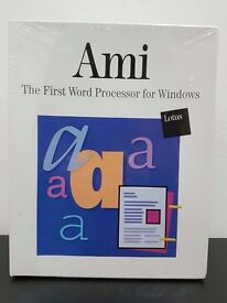 Rare Vintage Lotus Ami The First Word Processor for Windows Mint Condition