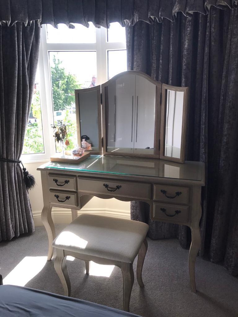 Dunelm Annabelle Natural Oak Dressing Table 2 Bedside Tables