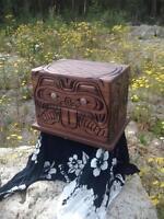 Cedar carved jewelry box for sale