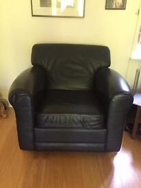 Ikea Black Leather Arm Chair